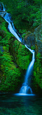 Waterfall In A Forest, Sullivan Falls Poster by Panoramic Images