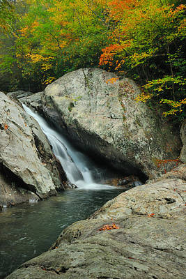 Waterfall In West Fork Of Pigeon River Poster by Photography  By Sai