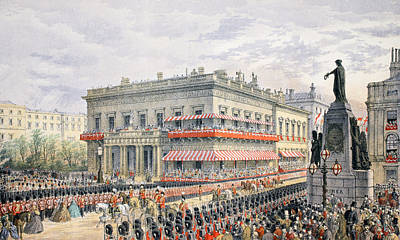 Waterloo Place And Pall Mall Poster by English School