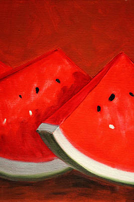 Watermelon Poster by Nancy Merkle