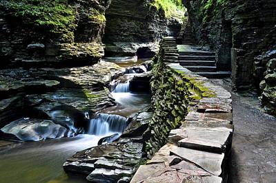 Watkins Glen State Park Poster by Frozen in Time Fine Art Photography