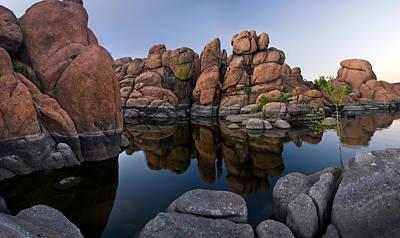 Watson Lake Arizona Reflections Poster by Dave Dilli