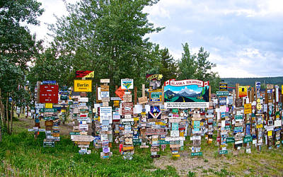 Watson Lake Sign Forest Along Alaska Highway In  Yukon-canada Poster by Ruth Hager