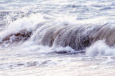 Wave In Stormy Ocean Poster by Elena Elisseeva