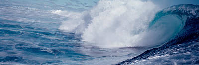 Waves Splashing In The Sea Poster by Panoramic Images
