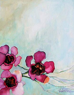 Wax Flowers Pink Poster by Wendy Westlake