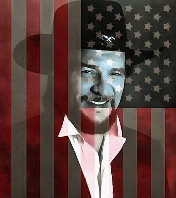 Waylon Jennings American Outlaw Poster by Dan Sproul