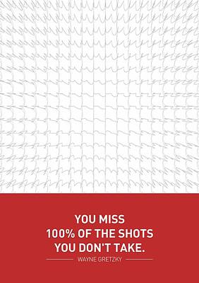 Wayne Gretzky Sports Quotes Poster Poster by Lab No 4 - The Quotography Department