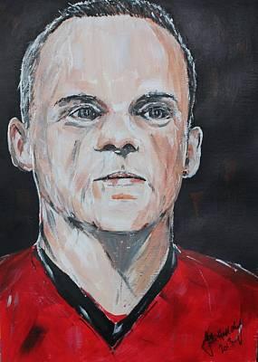 Wayne Rooney Poster by John Halliday