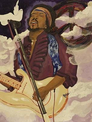 We Miss Jimi Poster by Reba Baptist