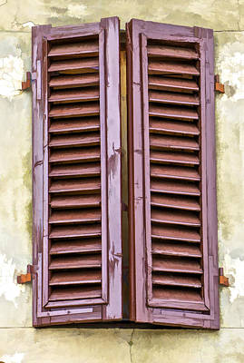 Weathered Brown Wood Shutters Of Tuscany Poster by David Letts