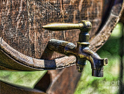 Weathered Tap And Barrel Poster by Paul Ward