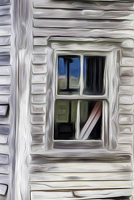 Weathered Window 2 Poster by Patsy Zedar