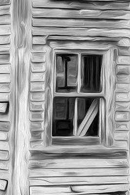 Weathered Window 3 Poster by Patsy Zedar