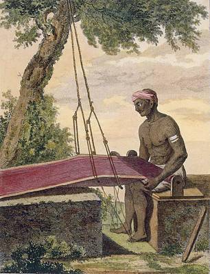 Weaver Of Cloth, From Voyage Aux Indes Poster by Pierre Sonnerat