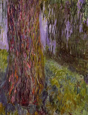 Weeping Willow And The Waterlily Pond Poster by Claude Monet