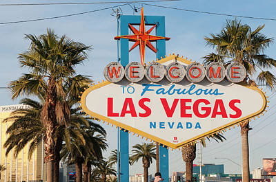 Welcome To Las Vegas Sign, Las Vegas Poster by Michael Defreitas