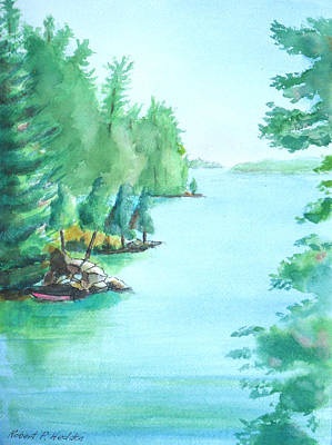 Wellesley Island State Park Campers Cove Poster by Robert P Hedden
