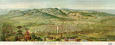 Wellge's Colorado Springs Birdseye Map - 1890 Poster by Eric Glaser