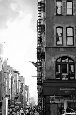 West 23rd Street Bw Poster by Laura Fasulo