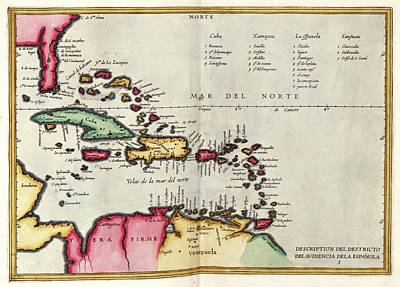 West Indies Poster by Library Of Congress, Geography And Map Division