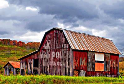 West Virginia Barn Painted Poster by Steve Harrington