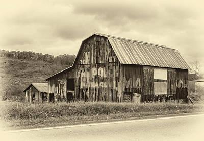 West Virginia Barn Sepia Poster by Steve Harrington