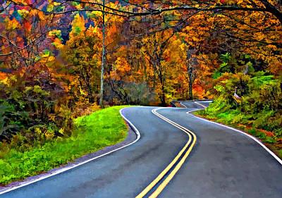 West Virginia Curves Painted Poster by Steve Harrington