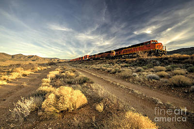 Westbound Freight  Poster by Rob Hawkins