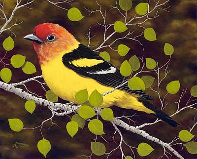 Western Tanager Poster by Rick Bainbridge