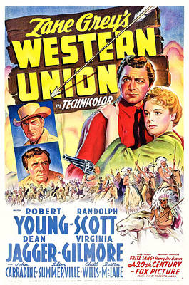 Western Union, Robert Young, Randolph Poster by Everett