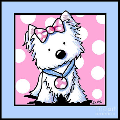 Westie Dot Squared Poster by Kim Niles