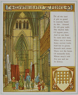 Westminster Abbey Poster by British Library