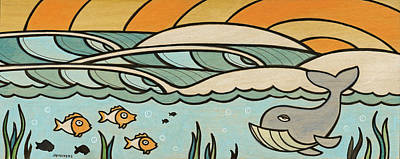 Whale Below The Undertow Poster by Joe Vickers