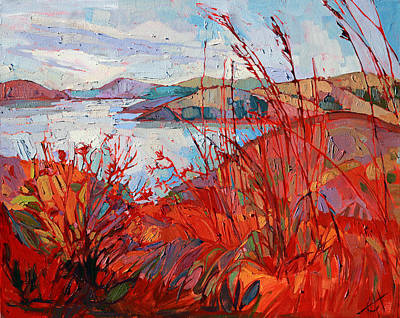 Whale Rock Summer Poster by Erin Hanson