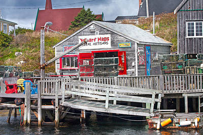 Wharf Hags Peggy's Cove Poster by Betsy C Knapp