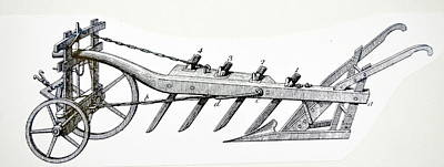 Wheeled Plough With Four Coulters Poster by Universal History Archive/uig