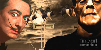 When Dali Met Frankenstein 20141215 Poster by Wingsdomain Art and Photography