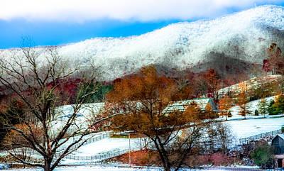 When Winter Blankets Autumn Poster by Karen Wiles