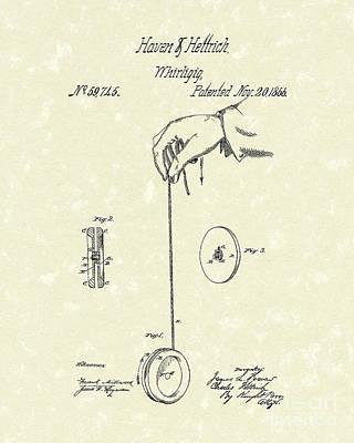 Whirligig 1867 Patent Art Poster by Prior Art Design