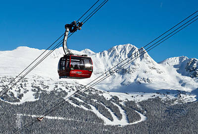 Whistler Blackcomb Peak To Peak Poster by Pierre Leclerc Photography