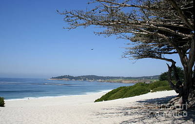 White Beach At Carmel Poster by Christiane Schulze Art And Photography