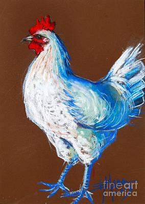 White Hen Poster by Mona Edulesco