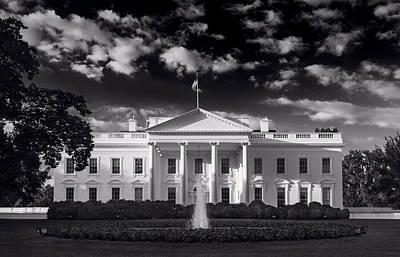 White House Sunrise B W Poster by Steve Gadomski