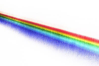 White Light Spectrum Through Prism Poster by GIPhotoStock