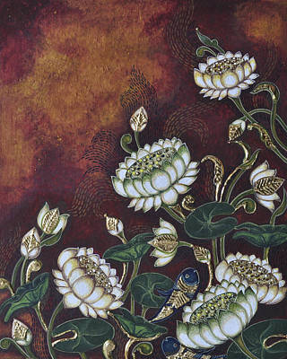 White Lotus Poster by Sucheta Misra