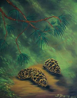 White Pine  And Cones Poster by Sharon Duguay