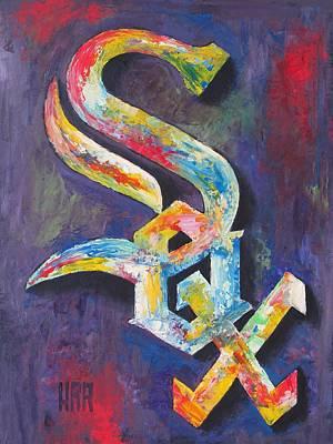 Chicago White Sox Baseball Poster by Dan Haraga