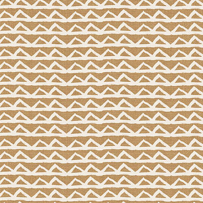 White Triangles On Burlap Poster by Linda Woods