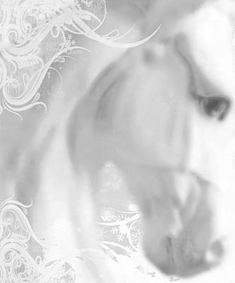 White Winter Horse 2 Poster by Tony Rubino